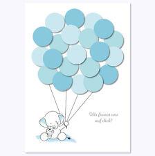 Babyparty, Baby Shower, Deko, Andenken, Elefant, junge, blau von Mia-Felice