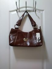 NWT- Beautiful Nine West Cabos Satchel Handbag Purse Shoulder Bag - Brown/Walnut
