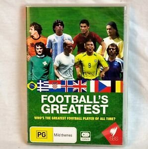 FOOTBALL'S GREATEST DVD 3 Discs Region 4 Messi Ronaldo Pele Gullit Free📮