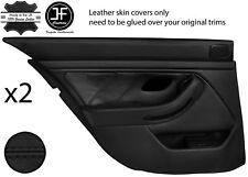 Black Stitch Arrière 2X complet porte carte en cuir couvre Fits BMW 5 Series E39 95-03