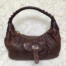 Authentic Fendi, Italy, Brown Leather Spy Purse Handbag, 15in x 9in x 4in 6b45482f36