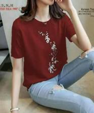 Korean Cherry Blossom Shirt (Red)