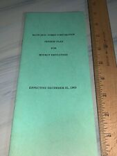 Bath Iron Works Corporation, pension plan for hourly employees 1963.