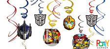 Transformers Birthday Party Supplies SWIRLS FOIL HANGING DECORATIONS Pack Of 12