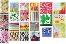 Decoupage Paper Floral Geometric Designs Crafts Parties 22 Packs - (412 Napkins)