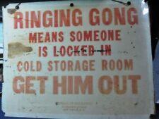 Borden Dairy Cold Storage Vintage Sign