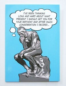 Happy Birthday Funny Thinker Greetings Card For Him/Her/Friend by Cards For You