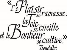 Sticker Quote Bonheur Buddha 76x57cm