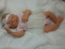 BIG FULL Body SOLID SILICONE Baby GIRL Doll- Rebecca #1 DRINK/WET with armatures