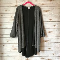 LuLaRoe Lindsay Womens Large Gray Kimono Sleeve Open Front Cardigan Sweater