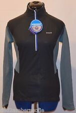 COLUMBIA Windefend Omni Wind Block 1/2-Zip Top (Gravel Black Blue) Women's M