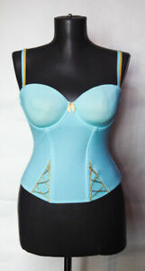Marie Jo L'Aventure Womens Corset / Bustier Blue in Small Check Size EUR 80 B