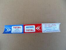 Autocollant sticker Citroën Huile Total 2cv DS ID Cx Ami6 Ami8 2 cv Ami 6 8 NEUF