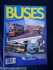 BUSES #449 - AUG 1992 - BOROLINE FROM TRAM LINE TO END OF LINE