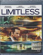 Blu Ray Disc **LIMITLESS** con Robert De Niro Sigillato Nuovo 2011