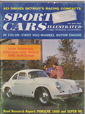 MAY 1960 SPORTS CAR  ILLUSTRATED vintage collectors car magazine PORSCHE 1600
