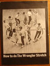 The Wrangler Stretch Sheet Music 1964 Promotional How To Do RARE VINTAGE