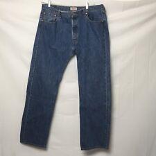 Levis 501 Mens Button Fly Jeans 38x32 Medium Wash S54