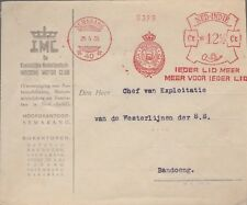 1935 Netherlands Indies Meter stamp cover 40 Auto  Motorcycle club