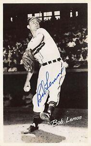 Bob Lemon Cleveland Indians Baseball Autograph Official Postcard