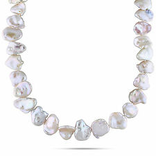 """Amour Sterling Silver 15-16 mm Freshwater White Pearl Necklace 18"""""""