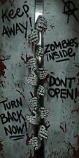 ZOMBIE HANDS Halloween Party Scene setter Decorations DOOR Cover Sign Graffiti