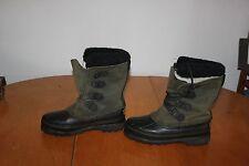 Women's Sorel Alpine Winter Snow Boots Dk. Green (6) & Liners
