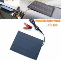 5W 18V Portable Solar Panel Power Cell Charger Monocrystalline Battery