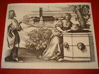 Giulio CAMPAGNOLA 1482-1515 GRAVURE XVI SAMARITAINE ITALIE VENEZIA AMAND DURAND