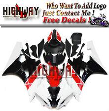 ABS Injection Bodywork Kit Fairings For Yamaha YZF R6 2006-2007 White Red Black