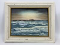 Vtg Framed Crashing Waves Ocean Coast Seascape Original Oil Painting Signed