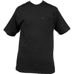 Key Short Sleeve Heavyweight Pocket T.  Key Short Sleeve Pocket T 820 Black