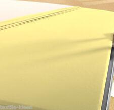 2 Biber Bettlaken 150x250 cm GELB B Ware