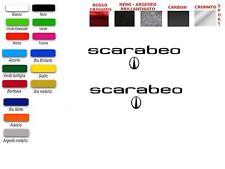 ADESIVI  SCRITTA SCARABEO   (COPPIA)
