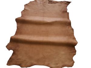 LEDER TIP 35343-D, Lederreste, 1 Lederhaut, tabakbraun, nappa