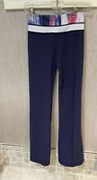 Lululemon Womens Cadet blue Yoga Work Out Pants reversible Size 2