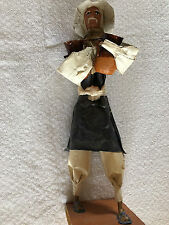 Vintage Hand made paper / tape Man Figurine Art Sculpture 12""