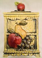 Vintage Geo Z Lefton Green Orchard Candy Box/Cookie Jar #4130