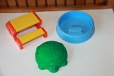 Little Tikes Dollhouse size Turtle Sand Box, Pool, & Picnic Table