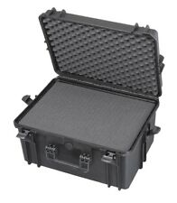 Waterproof Deep Briefcase Size Black Protective Hard Camera Case with Cubed Foam