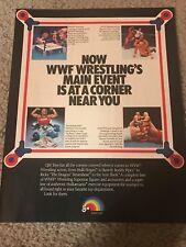 1986 WWF HASBRO FIGURES Print Ad HULK HOGAN IRON SHEIK BIG JOHN STUD ROWDY PIPER