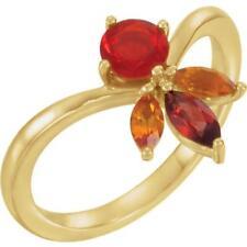 14k Yellow Gold Multi Gemstone Ring Size 7
