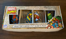 Marvel Comics Collector's Series 16oz Pint Glasses Tumbler Set 4-Pack Glassware