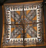 1960's Kaleidoscopic Silk Vera Neumann Scarf (22 x 22)