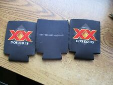 3 DOS EQUIS Can Koozies Stay Thirsty my Friends NEW