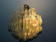 Lampadario Cristalli 4 Lampadine Lusso Moderno Trasparente