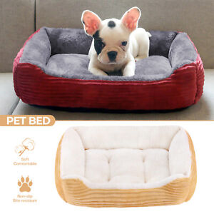 Pet Dog Cat Puppy Kitten Soft Blanket Doggy Warm Velvet Fabric Bed Kennel 4 Size