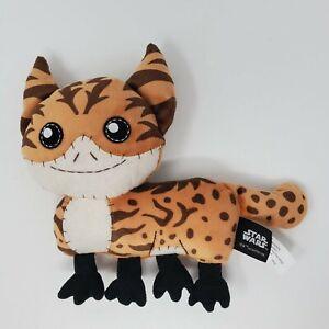 "Star Wars Plush Stuffed Animal Loth Cat 7"" Brown Purrs Meows Mattel Galaxy Edge"