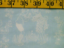 CHILDRENS TOILE  PRINT 100% COTTON FABRIC   30X43 INCHES
