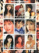 SOPHIE MARCEAU FRENCH ACTRESS DIRECTOR AUTHOR CONGO 2002 MNH STAMP SHEETLET